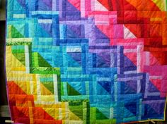 Colorful rainbow quilt $63.00 #rainbows