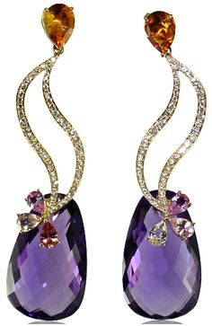 Caroline C, diamonds, amethyst, citrine