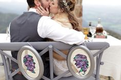 Custom Chalkboards and Chalk Art by Chelsea Ward His and Hers floral mirror cameos Wedding Kiss, Chalk Art, Celtic, Chelsea, Wedding Photography, Photoshoot, Winter, Chalkboards, Mirror