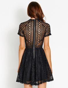 Heartbreaker Lace Skater Dress   Dotti