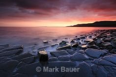 KE041 Sunset, Eastern Ledges, Kimmeridge Bay - Purbeck