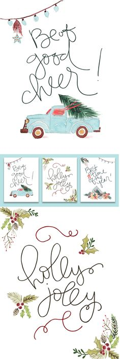Whimsical Christmas Prints for your Holiday Décor! Spread some cheer!
