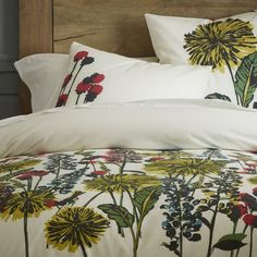 Urban Garden Duvet Cover. Pretty! But I don't really need another duvet cover. I need a summer quilt. Maybe I could turn this into one?