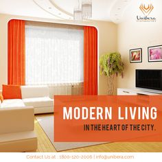 Modern living in the heart of the city...........................  #Unibera #YourDreamsComeTure #Uniberatower #Memories #Home #DreamHome #DreamHouse #Flatforsale #2BHKFlats #LuxuryFlats #LuxuryHome #RealEstate #NoidaExtension #GreaterNoidaWest #UniberaDevelopers