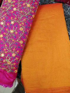 Latest plain silk kota sarees with designer blouse Elegant Fashion Wear, Trendy Fashion, Blouse Styles, Blouse Designs, Kota Sarees, Plain Saree, Handloom Saree, Printed Sarees, Flower Prints
