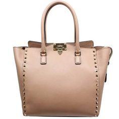 "Valentino ""Ewb00339"" Blush Leather Handbag"