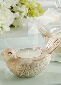 Songbird Tealight Candle Holder, Style 25120NA #davidsbridal #romanticweddings #weddingdecor