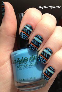 Tribal Nail Art ahhhh!!