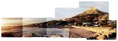 A photo montage of Glen Beach, Cape Town. A favourite surf spot for ct locals. Collage Landscape, Local Attractions, Photomontage, Cape Town, Mount Rushmore, Surfing, Mountains, Beach, Nature