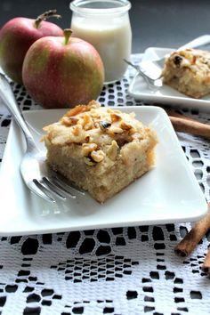 Blondies aux pommes, caramel et noix - Ma cuisine de tous les jours