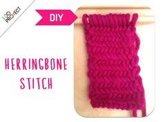 Tutorial Herringbone stitch by I DO PROYECT http://idoproyect.com/ganchillo-y-punto/lana-100-agujas-3-4-mm.html#/color_lana_merino_4-rojo