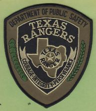 TEXAS RANGERS DEPT PUBLIC SAFETY DPS POLICE SWAT SHOULDER PATCH (Subdued)