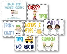 Teach Junkie: 2 Classroom Management Expectations Poster Sets - Whole Brain…