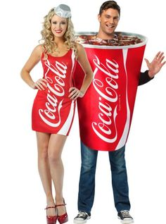 Coca-Cola Cup and Coca-Cola Bottle Costume - Party City. Matches w/ Stogie's costume too