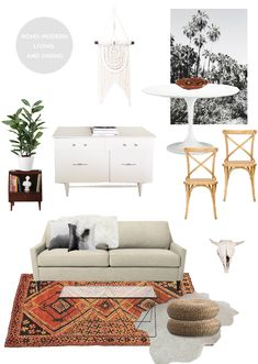 super swoon | modern bohemian living/dining room // smitten studio