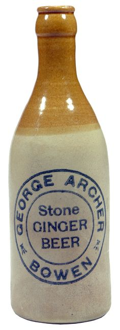 George Archer Stone Ginger Beer Bowen. Tan top champagne shape