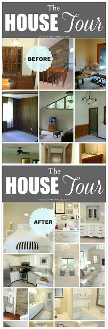 The LiveLoveDIY House Tour: Shows how to completely transform a 1970's house! Amazing tips anyone can use!