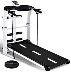 QINYUP Treadmill Mini Indoor Sports Silent Folding Mechanical Walking Machine Home Weight Loss Fitness,Black This Walking Pad Is Silent, Intelligent... Home Treadmill, Folding Treadmill, Running On Treadmill, Treadmill Workouts, Fun Workouts, Running Machines, Workout Machines, Buy Boxes, Electric House