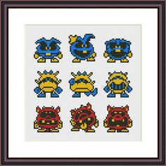 Dr. Mario Viruses Sampler Cross Stitch Pattern | Craftsy