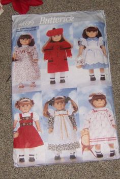 18 Inch Doll Clothes Pattern Butterick 4699 by CooperCollectibles, $37.00