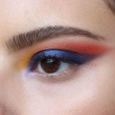 "I don't know what to call this but I hope you enjoy anyway. ♀️ @morphebrushes 39A palette @kikomilano high pigment eyeshadow ""36"", ""19"", ""44"" @zoevacosmetics spring strobe palette @maybelline master kajal liner #makeup #mua #makeupartist #editorial #colorful #morphe #kiko #maybelline #eyeshadow #smokeyeye #katvond #modelmalay #theartistedit #featuremuas #photography #motd #potd #berlin"