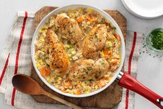 Smoky maple chicken & rice recipe cook with campbells canada Maple Chicken, One Pan Chicken, Chicken Rice Recipes, Chicken Meals, Healthy Eating Plate, Campbells Soup Recipes, How To Cook Rice, Main Meals, Cooking