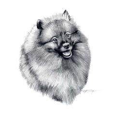 keeshond hund kunstdruck signiert von knstler dj von k9artgallery 1250