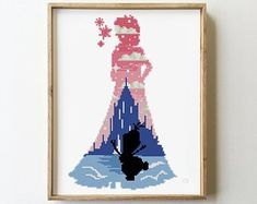 Elsa counted cross stitch Disney frozen anna nursery fairy counted starry night let it go – Cross Stitch Pattern (Digital Format – PDF) Elsa counted cross stitch Disney frozen anna nursery fairy counted starry night let it go – Cross St Disney Cross Stitch Patterns, Modern Cross Stitch Patterns, Counted Cross Stitch Patterns, Cross Stitch Charts, Cross Stitch Designs, Cross Stitch Embroidery, Hand Embroidery Patterns, Beading Patterns, Disney Stitch