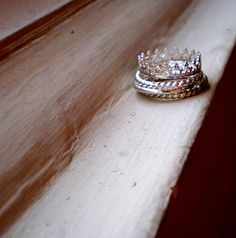 Pretty as a Princess  Sterling Silver Ring Stack by TheLovelySmith