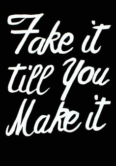 Black and White Fake It Till You Make It  by HelenIllustration, £25.00