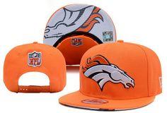 b5ee84ae57872 NFL Denver Broncos Retro Orange Snapback Brim Under Logo
