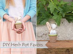 Great little DIY for a baby shower or baptism party: Herb Pot Favor Tutorial from One Small Child's Christening Lookbook Shoot Christening Party Favors, Christening Outfit, Baptism Party, Boy Baptism, Baptism Ideas, First Communion Party, Baby Dedication, Herb Pots, Baby Time