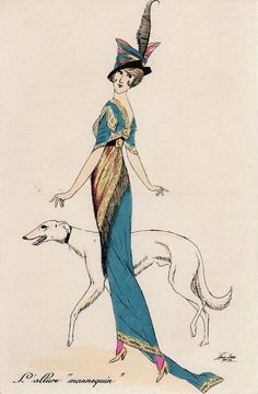 "Xavier Sager (Austria, 1870 - United States, 1930) - cartoonist - L'allure ""mannequin"""