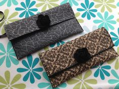 Felt Flower clutches with magnetic closure - www.stickelberry.com