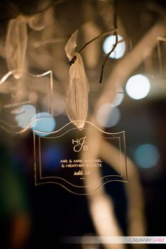 Engraved Lucite Seating Cards