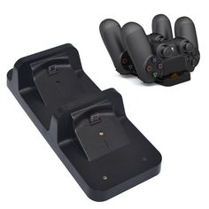 Dual USB Charging Base Dock Station Stand for PS4 PlayStation 4 Shock Game Controller Black Charger
