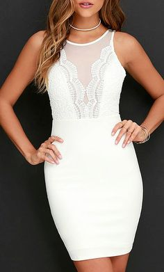 I like this dress in their black version, not a fan of this white version. I like dresses that have the mesh area with skin peaking