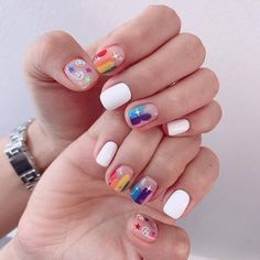 ─[✧]─ @tokyocheers Minimalist Nails, Love Nails, Pretty Nails, Gorgeous Nails, Easter Nails, Manicure E Pedicure, Manicure Ideas, Nagel Gel, Cute Nail Art
