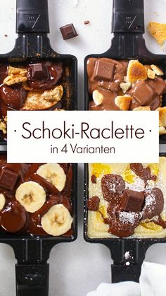 Raclette is a holiday like gifts under the Christmas tree. And for all those who think that raclette without cheese tastes like Advent without chocolate, we have prepared a few chocolate alternatives that are guaranteed to convince you otherwise! Best Moist Chocolate Cake, Chocolate Cookie Recipes, Easy Cookie Recipes, Homemade Chocolate, Chocolate Desserts, Snack Recipes, Dessert Recipes, Chocolate Buttercream, Chocolate Alternatives