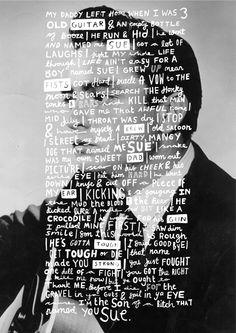 Johnny Cash poster by Lauren Smith, via Behance