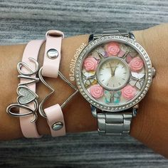How gorgeous is this Origami Owl watch and wrap bracelet?? www.terrivillar.origamiowl.com