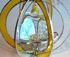 Stained Glass Suncatcher with 3d Flower & by BayCreationsbyWendy