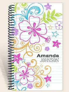Prayer Journal / Personalized Notebook / Spring is in the Air - Philippians / Prayer Journal/ Best Friend Birthday Cards, Page Borders Design, Kids Pages, Journal Pages, Journal Notebook, Personalized Notebook, Journal Design, Easy Drawings, Doodles