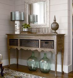 Universal Furniture - Paula Deen - Down Home - Sideboard with Baskets in Oatmeal available at Furnitureland South.