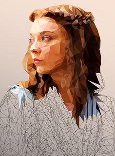 Low Poly Portraits of Characters from Game of Thrones by Mordi Levi Illustration Art Nouveau, Graphic Illustration, Graphic Art, Portrait Illustration, Art Illustrations, Game Of Thrones, Art Couple, Fantasy Magic, Low Poly Games