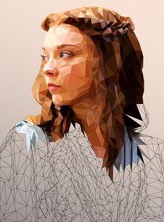 Margaery - Low Poly Illustration on Behance