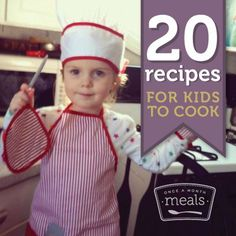 Breakfasts, treats, and simple meals that are perfect for little hands to help with in the kitchen. Once a Month Meals | OAMC | Freezer Cooking | Freezer Meals | Cooking with Kids |