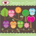 Designs on Cloud 9 Give a Hoot SVG and cutting files