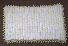 handknit baby blanket, washable yarn pram, unisex, Polyester, lemon/white, Rico