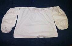 Blusa campesina White Shorts, Women, Fashion, Silhouettes, Costumes, Sleeves, Dressmaking, Moda, Women's
